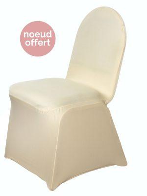 housse de chaise lycra ivoire