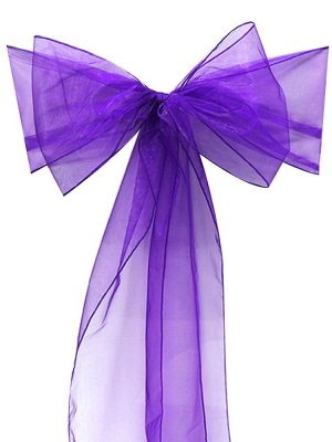 noeud en organza violet