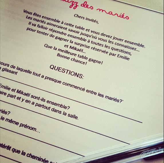 Chance bonheur au rdv du mariage d emilie micka l locadeco - La table d emilie marseillan menu ...