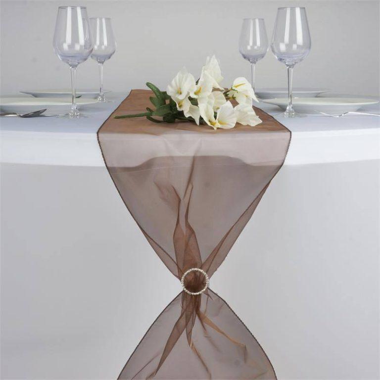 chemin-table-organza-marron