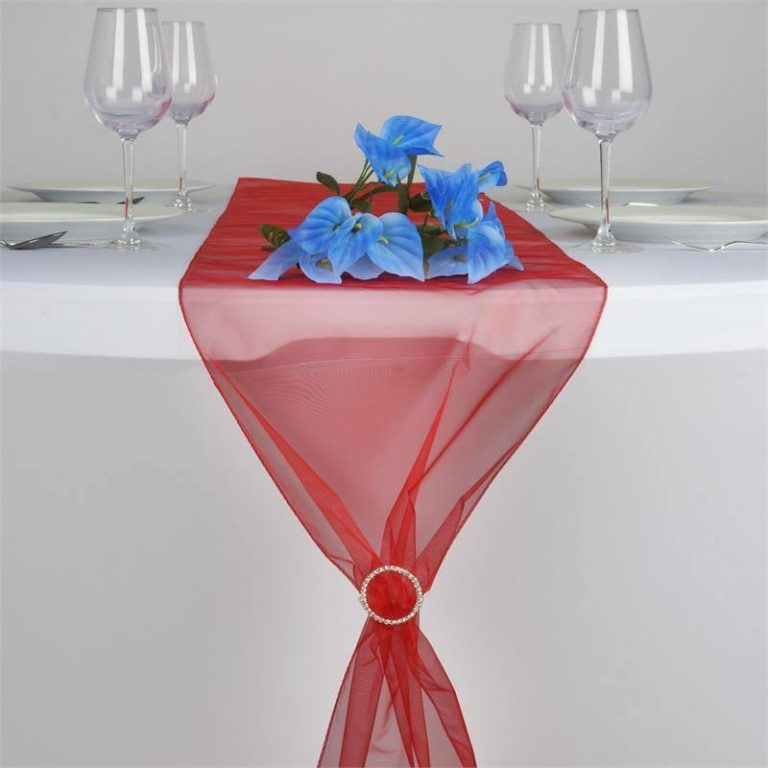 chemin-table-organza-rouge