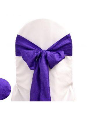 noeud taffetas violet